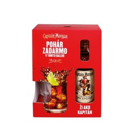 Rum, Cachaca CAPTAIN MORGAN SPICED 35% 1X700 ML + POHÁR