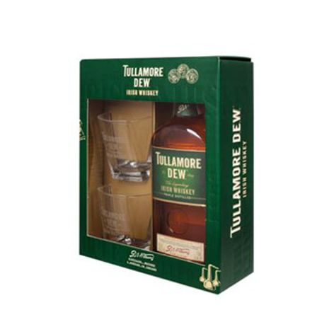 Whisky TULLAMORE DEW WHISKY 40% 1X700 ML + 2 POHÁRE